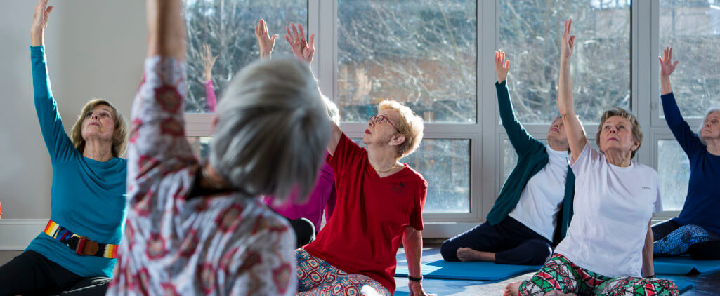 Lifestyle yoga class at Sharon Towers