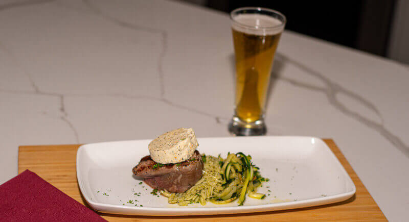 Angus Filet Mignon Topped w/ Dill Butter (Stella Artois)