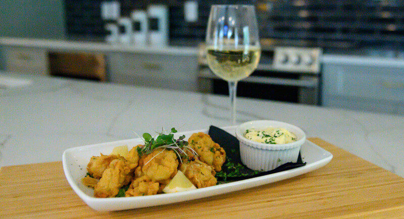 Cornmeal Fried Oysters w/ Pickled Okra Remoulade