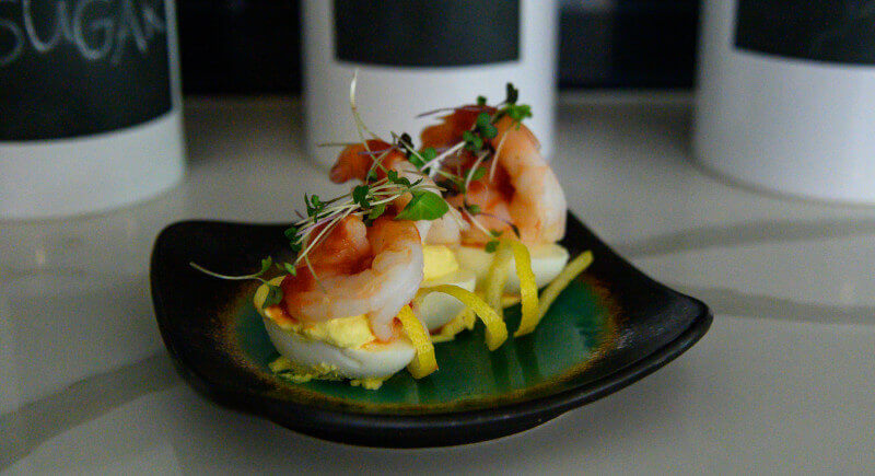 Shrimp Cocktail Style Deviled Eggs