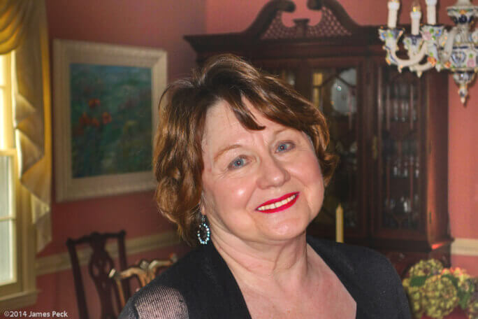 Gail Peck, author and Sharon Towers resident