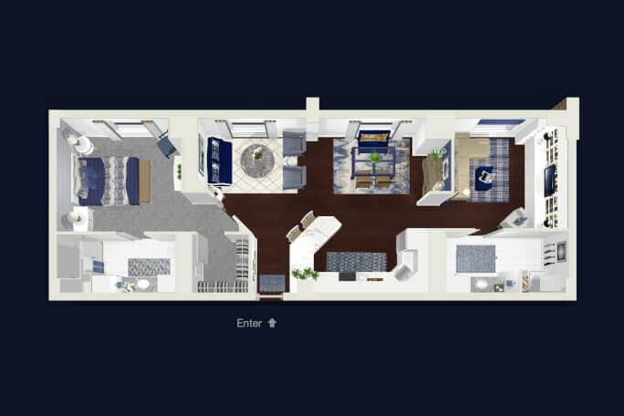 New West Tower Floor Plan